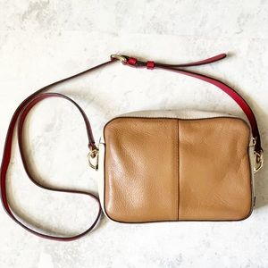 Cole Haan Colorblock Cream Tan Crossbody Bag